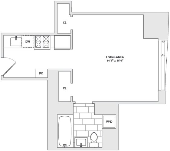 Studio, Financial District Rental in NYC for $2,432 - Photo 2
