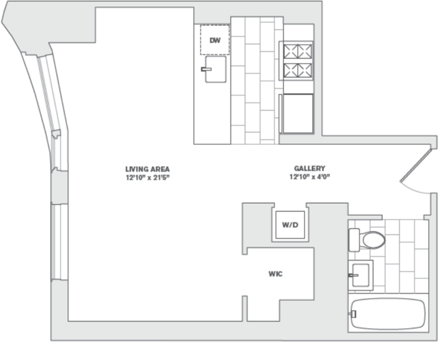 Studio, Financial District Rental in NYC for $3,417 - Photo 2