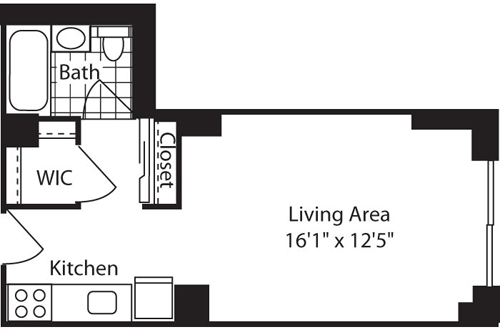 Studio, West Village Rental in NYC for $3,461 - Photo 2