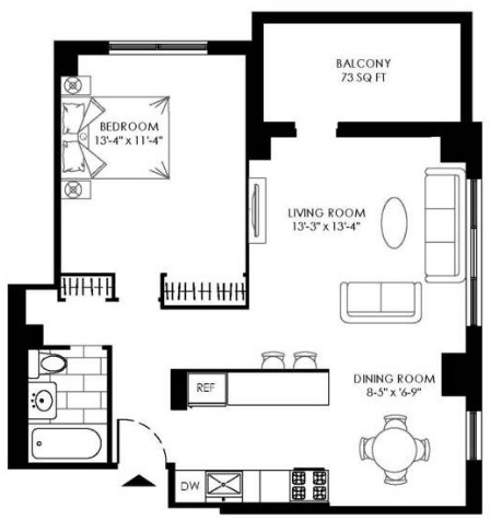 1 Bedroom, Manhattan Valley Rental in NYC for $3,470 - Photo 2