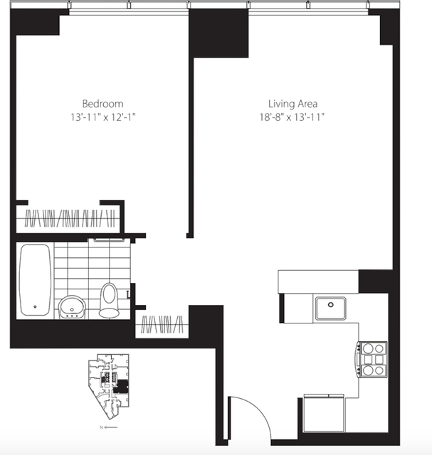 1 Bedroom, Lincoln Square Rental in NYC for $4,069 - Photo 2
