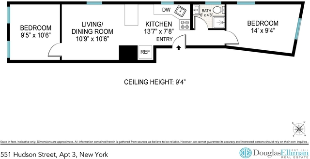 2 Bedrooms, West Village Rental in NYC for $4,898 - Photo 2