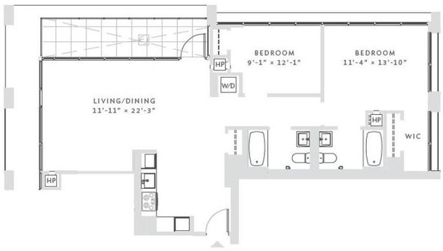 2 Bedrooms, Morningside Heights Rental in NYC for $6,592 - Photo 2