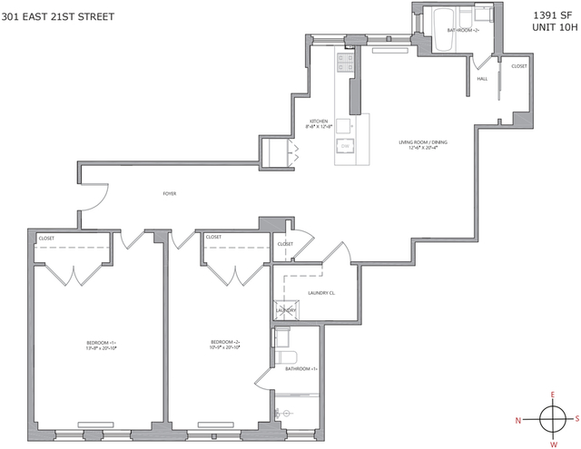2 Bedrooms, Gramercy Park Rental in NYC for $7,029 - Photo 2