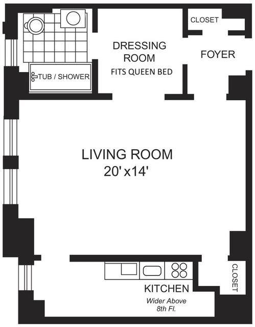 Studio, Chelsea Rental in NYC for $3,275 - Photo 2