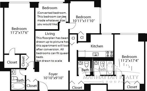 3 Bedrooms, Rose Hill Rental in NYC for $6,535 - Photo 2