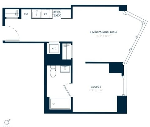 1 Bedroom, Greenpoint Rental in NYC for $3,557 - Photo 2