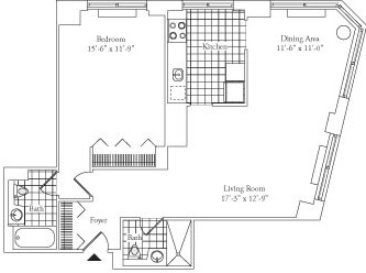 1 Bedroom, Lincoln Square Rental in NYC for $4,702 - Photo 2