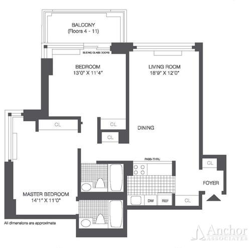 2 Bedrooms, Roosevelt Island Rental in NYC for $3,369 - Photo 2