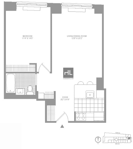 1 Bedroom, Civic Center Rental in NYC for $3,857 - Photo 2