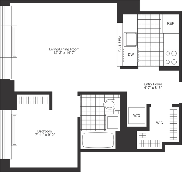 Studio, Upper West Side Rental in NYC for $3,690 - Photo 2