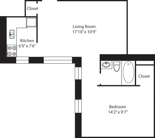 1 Bedroom, Upper West Side Rental in NYC for $3,619 - Photo 2