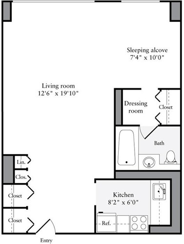 Studio, Murray Hill Rental in NYC for $3,333 - Photo 2
