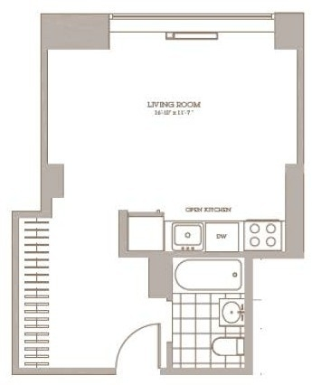 Studio, Downtown Brooklyn Rental in NYC for $2,890 - Photo 2