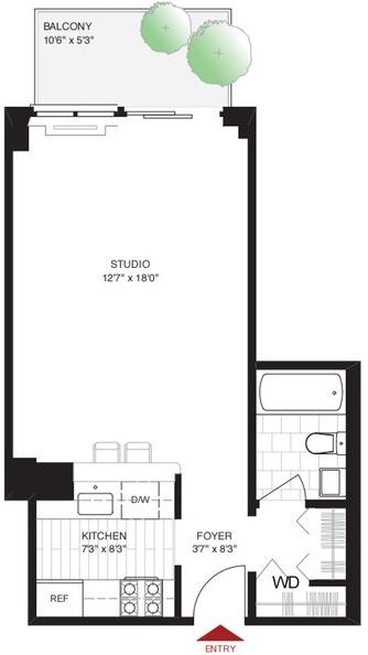 Studio, Yorkville Rental in NYC for $3,306 - Photo 2