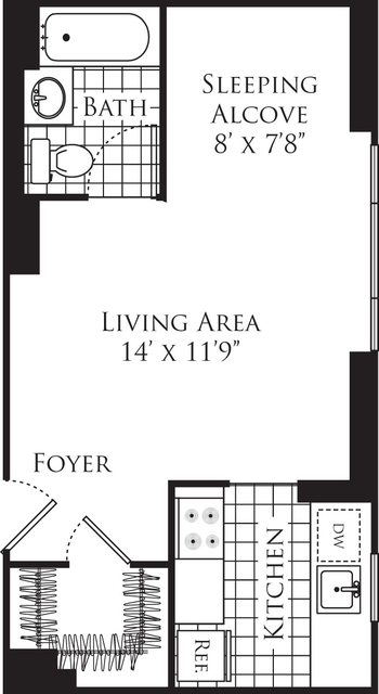 Studio, Hell's Kitchen Rental in NYC for $3,087 - Photo 2