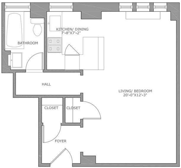 Studio, Gramercy Park Rental in NYC for $2,975 - Photo 2