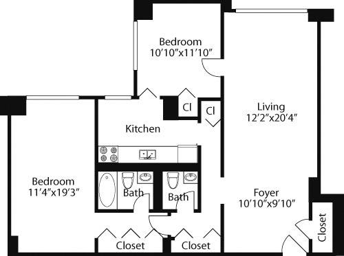 2 Bedrooms, Rose Hill Rental in NYC for $5,571 - Photo 2