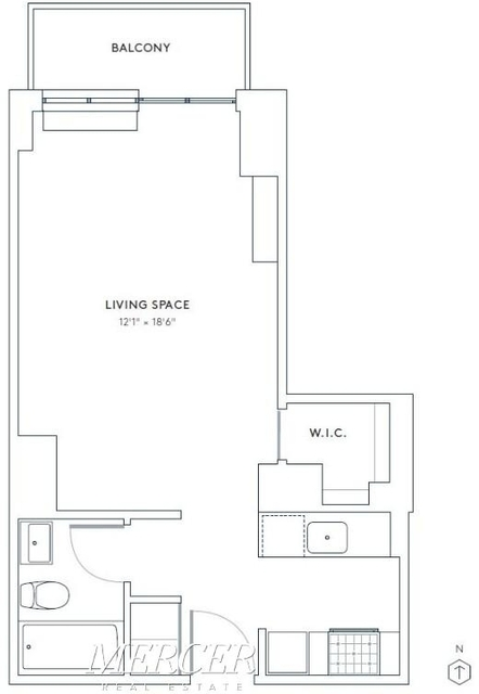 Studio, Hell's Kitchen Rental in NYC for $2,786 - Photo 2