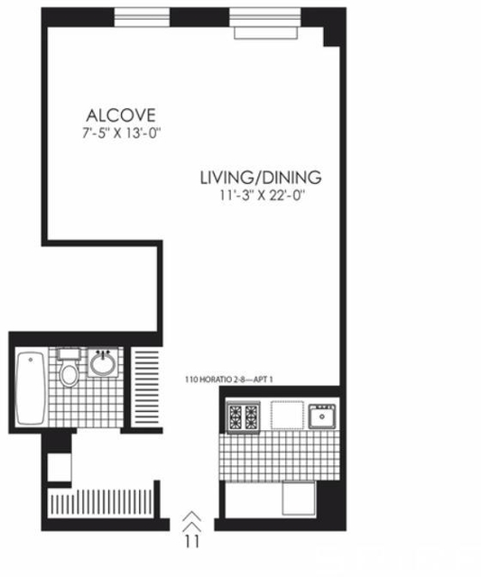 Studio, West Village Rental in NYC for $4,496 - Photo 2