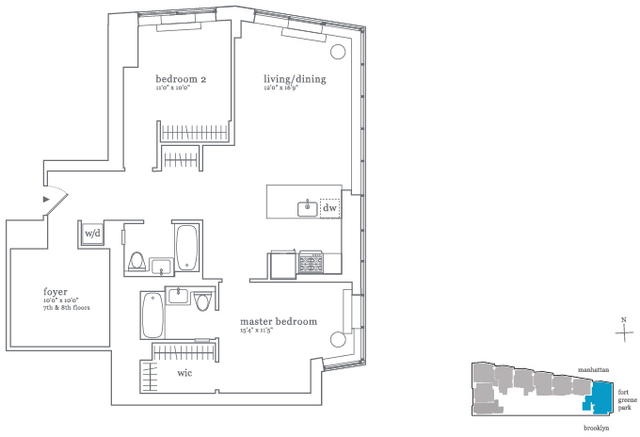 2 Bedrooms, Fort Greene Rental in NYC for $5,110 - Photo 2