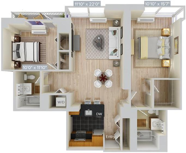 2 Bedrooms, Hunters Point Rental in NYC for $4,846 - Photo 1