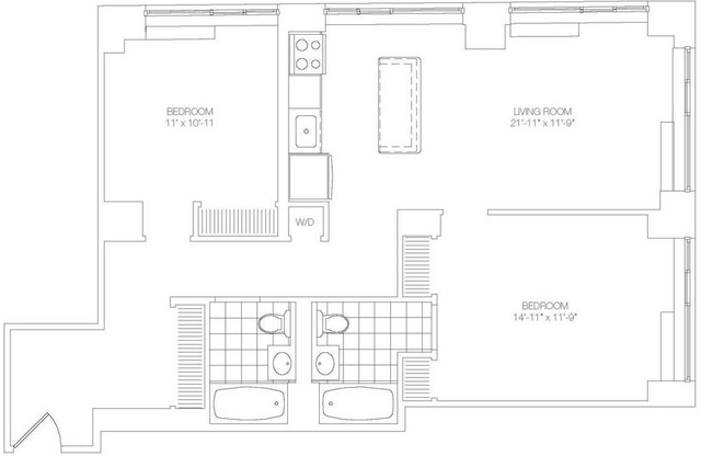 2 Bedrooms, Lower East Side Rental in NYC for $6,630 - Photo 2