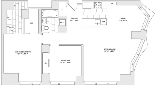 2 Bedrooms, Financial District Rental in NYC for $8,955 - Photo 1