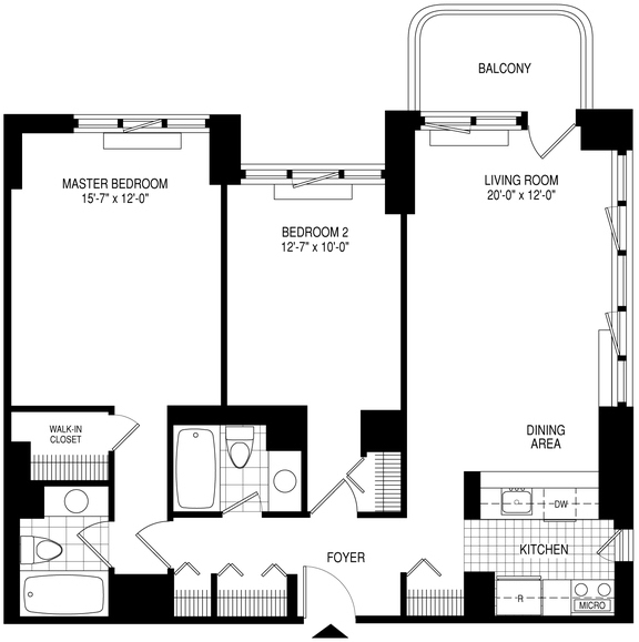 2 Bedrooms, Theater District Rental in NYC for $6,100 - Photo 2