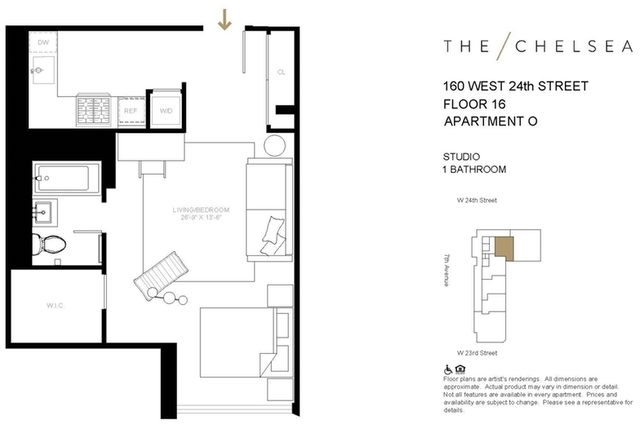 Studio, Chelsea Rental in NYC for $4,433 - Photo 2