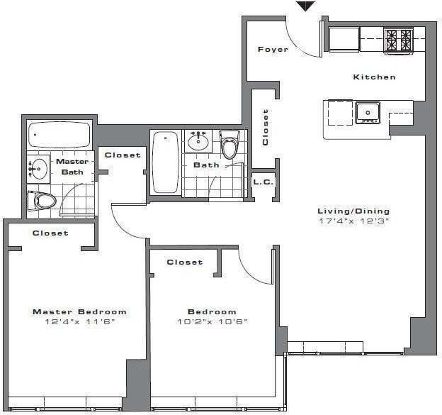 2 Bedrooms, Financial District Rental in NYC for $5,446 - Photo 2