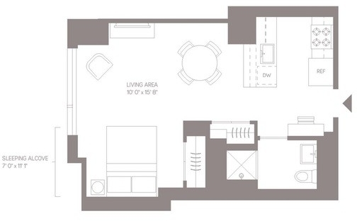 Studio, Hell's Kitchen Rental in NYC for $3,996 - Photo 2