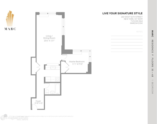 2 Bedrooms, Theater District Rental in NYC for $5,133 - Photo 2