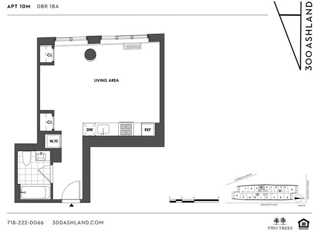 Studio, Fort Greene Rental in NYC for $2,796 - Photo 2
