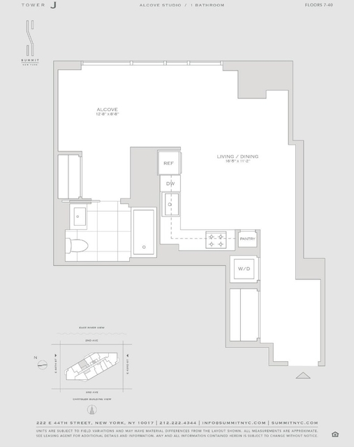 Studio, Turtle Bay Rental in NYC for $4,200 - Photo 2