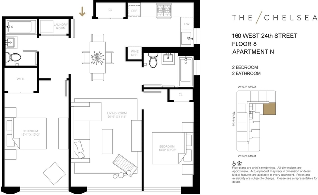 2 Bedrooms, Chelsea Rental in NYC for $7,137 - Photo 2