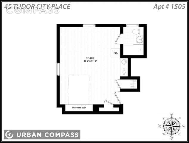 Studio, Tudor City Rental in NYC for $2,200 - Photo 2