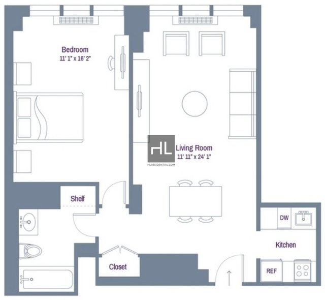 1 Bedroom, Rose Hill Rental in NYC for $3,765 - Photo 2