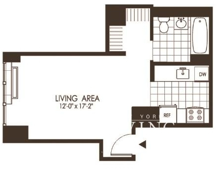 Studio, Hunters Point Rental in NYC for $2,297 - Photo 2