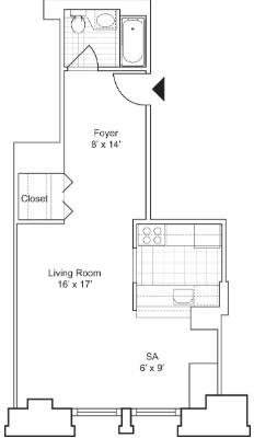Studio, Financial District Rental in NYC for $3,124 - Photo 2