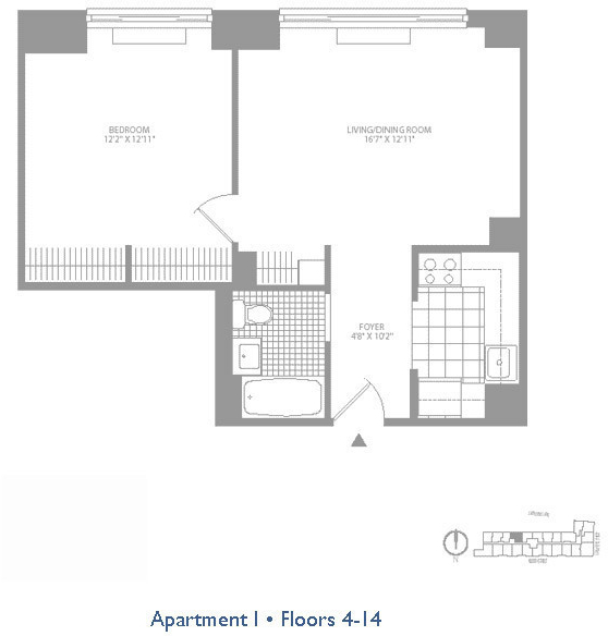 1 Bedroom, Civic Center Rental in NYC for $3,949 - Photo 2