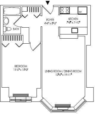 1 Bedroom, Battery Park City Rental in NYC for $3,825 - Photo 2