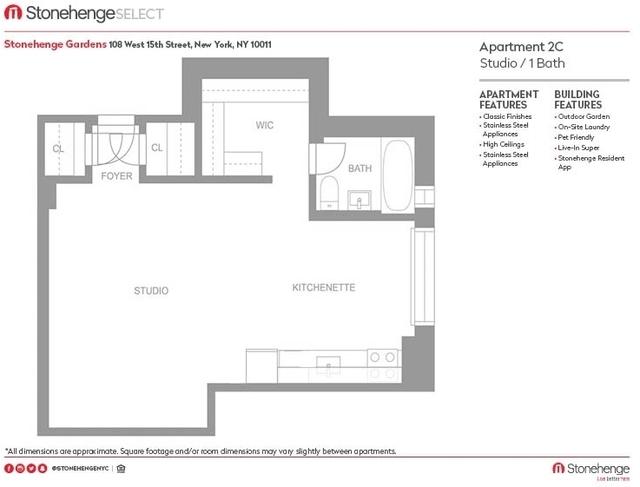 Studio, Chelsea Rental in NYC for $3,046 - Photo 2