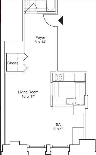 Studio, Financial District Rental in NYC for $3,239 - Photo 2