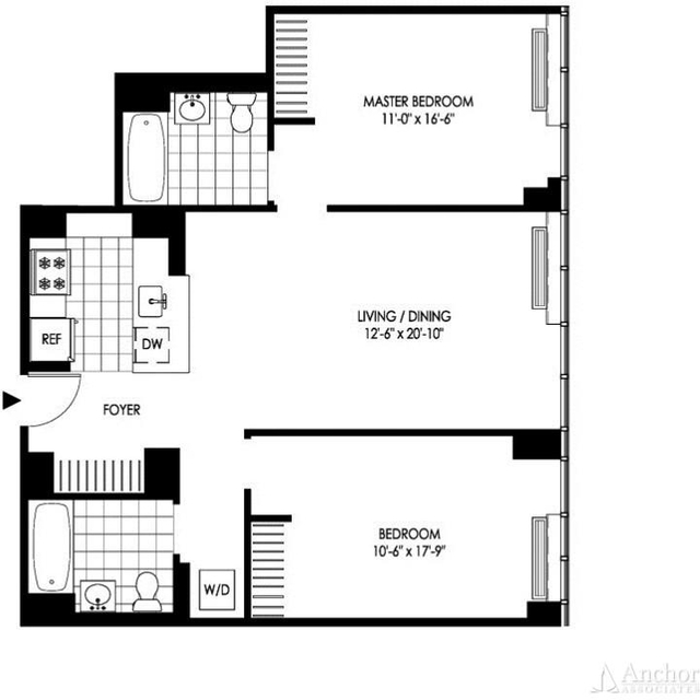 2 Bedrooms, Hunters Point Rental in NYC for $4,043 - Photo 2