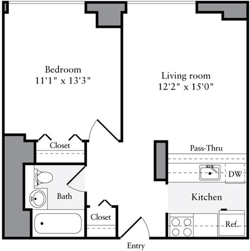 1 Bedroom, Brooklyn Heights Rental in NYC for $3,694 - Photo 2