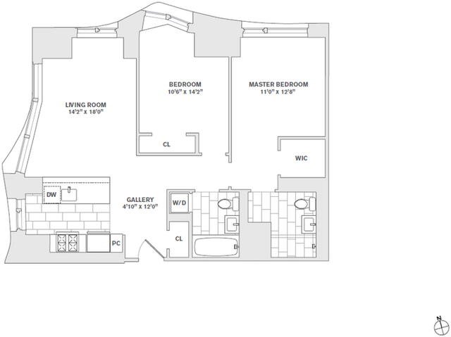 2 Bedrooms, Financial District Rental in NYC for $7,040 - Photo 2