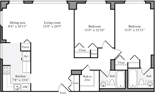 2 Bedrooms, Manhattan Valley Rental in NYC for $5,725 - Photo 2