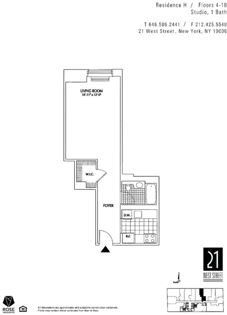 Studio, Financial District Rental in NYC for $2,840 - Photo 2