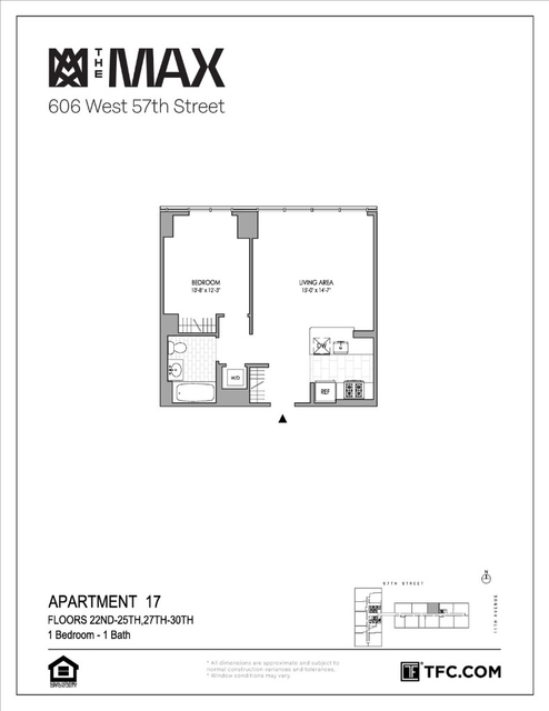 1 Bedroom, Hell's Kitchen Rental in NYC for $3,557 - Photo 2